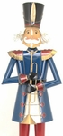 "59"" Blue Iron Christmas Nutcracker w/Trumpet ""Harold"""