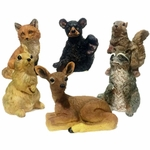 "6"" Wild Critters Asst. Statues (Set of 6)"
