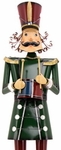 "60"" Forest Green Iron Christmas Nutcracker w/Drum ""Leo"""