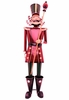 "60"" Red Iron Christmas Nutcracker w/Baton ""Henry"""