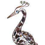 "62"" Giant Filigree Heron - Bronze"