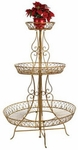 "62""  Round Plant Stand - Gold"
