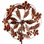 "63"" Solar Bronze Flower Wind Spinner"