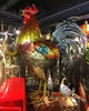 "67"" Large Iron Rooster - Colorful"