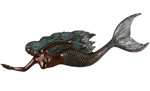"67"" Swimming Mermaid Wall Decor - Greenish Bronze"