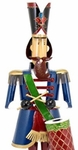 "70"" Blue Christmas Nutcracker w/Drum ""Marloni"""
