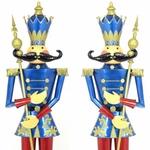 "72"" Blue Nutcracker Figurines (Set of 2)"