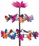 "72"" Kinetic Butterfly Dance Stake"