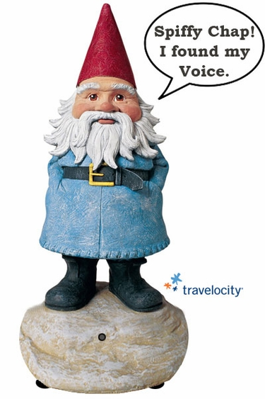 85 Travelocity TALKING Gnome Only 2999 At Garden Fun