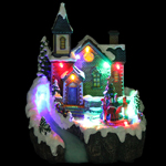 "8"" LED Animated Christmas Church"