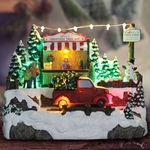 "8"" LED Animated Christmas Truck"