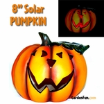 "8"" Solar Pumpkin Yard Decor"