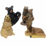 "8"" Wild Critters Asst. Statues (Set of 4)"