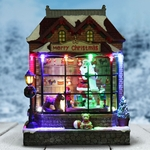 "9"" LED Animated Christmas Shop"
