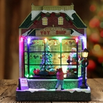 "9"" LED Animated  Santa Shop"
