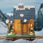 "9"" LED Snowcapped House w/Battery Operated Timer"