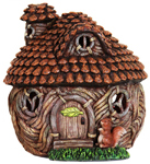 "9"" Solar Pinecone Cottage Hut"