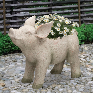 Adorable Pig Planter - Click to enlarge