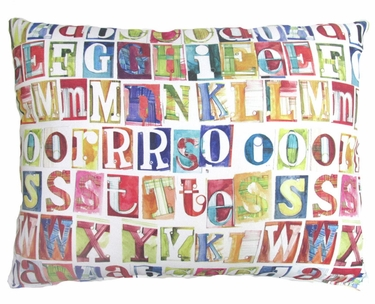 Alphabet Outdoor Pillow - Click to enlarge