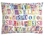 Alphabet Outdoor Pillow