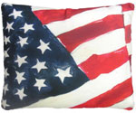 America Flag Outdoor Pillow