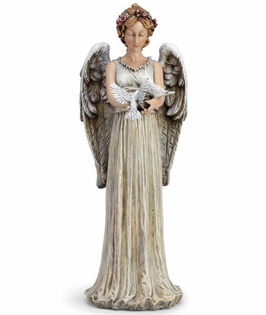 Angel Statue with Doves - Click to enlarge