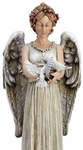 Angel Statue with Doves