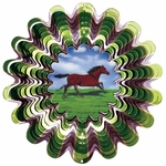 Animated Horse Wind Spinner