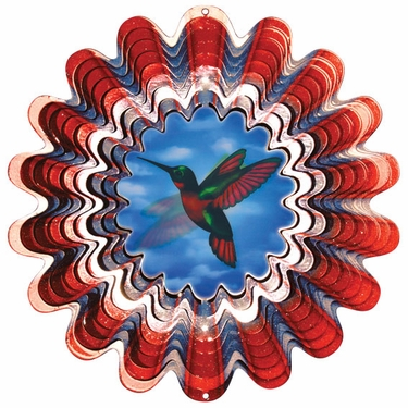 Animated Hummingbird Wind Spinner - Click to enlarge