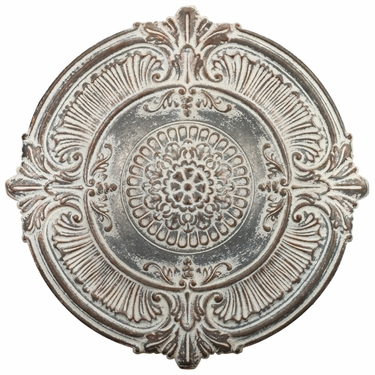 Antique White Medallion Wall Decor - Click to enlarge