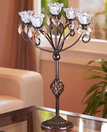 Anywhere 5 Flame Kami Candelabra - Bronze - Click to enlarge