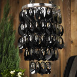 Anywhere Shimmer Chandelier - Large Ovals Black
