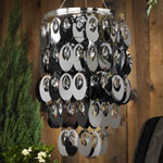 Anywhere Shimmer Chandelier - Large Oval Platinum