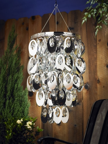 Anywhere Shimmer Chandelier - Large Oval Silver - Click to enlarge
