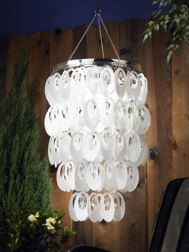 Anywhere Shimmer Chandelier - Large Oval White - Click to enlarge
