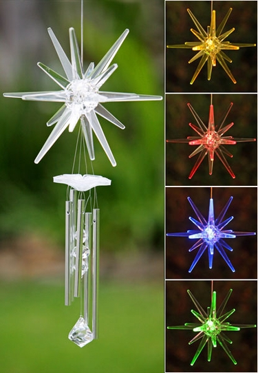 Solar Star Wind Chime Color Changing Led
