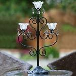 Anywhere Triple Flame Candelabra - Black