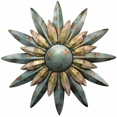 Aqua Sunburst Decor - Click to enlarge