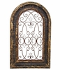 Arched Wooden Window Frame w/Iron Decor - Tuscany Black Finish