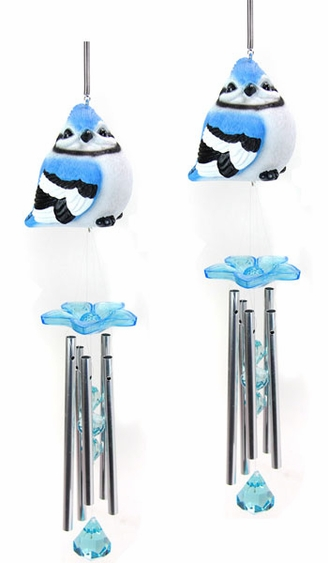 Audubon Blue Jay Wind Chimes (Set of 2) - Click to enlarge