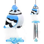 Audubon Blue Jay Wind Chimes (Set of 2)