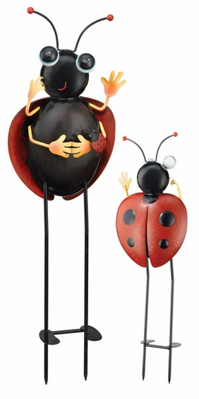 Baby Ladybug Garden Stake - Click to enlarge