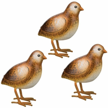 Baby Quail Decor Chicks (Set of 3) - Click to enlarge