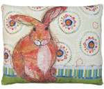 Background Bunny Outdoor Pillow