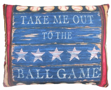 Baseball Sign Outdoor Pillow - Click to enlarge