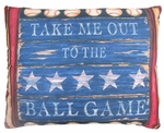 Baseball Sign Outdoor Pillow