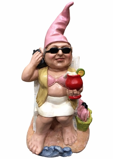 Beach Babe Gnome - Click to enlarge