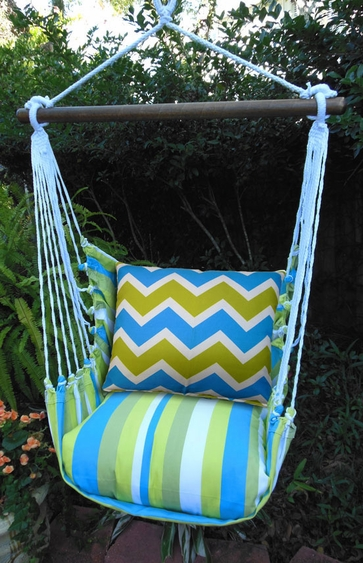Beach Boulevard Chevron Hammock Chair Swing Set - Click to enlarge