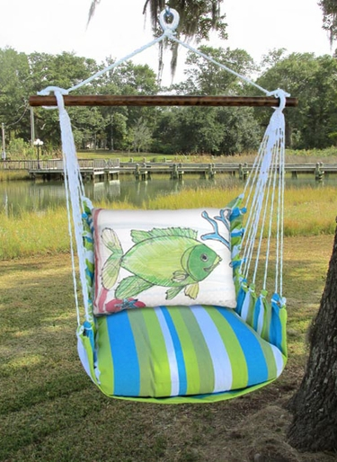 Beach Boulevard Fish w/Coral Hammock Chair Swing Set - Click to enlarge