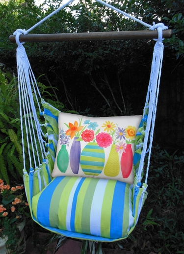 Beach Boulevard Flower Vases Hammock Chair Swing Set - Click to enlarge